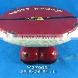 "10"" Xmas ceramic Egg trays"