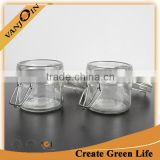 Air Tight 100ml Clear Glass Jar With Clip