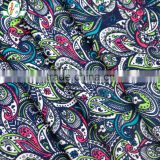 Peacock printed pattern elegant flower printed pattern stretch fabric for sexy gril swimwear fabric/ bikini