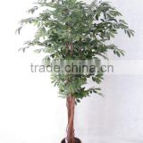Artificial olive tree with trunks twist together potted in planter