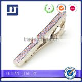 Top grade multicolor tie clips factory custom logo tie pin