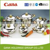 hot sales stainless steel 21pcs cooking pots with thermometer/cookware set                                                                         Quality Choice
