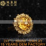 factory stock wholesale natural gemstone citrine amethyst green quartz crystal inlay 925 silver jewellery