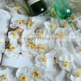 White orchid flower head silk head flowers for wholesale                                                                         Quality Choice