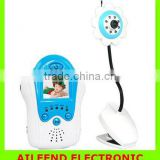 Blue Voice Control Baby Care Kit 2.4Ghz 4CH Wireless Camera Video Baby Monitor