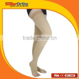Medical Compression Stocking--- A6-017 Thigh High Open Toes with Silicone Band for Varicose Veins