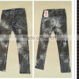 New model fashion PU coated men's jeans pants