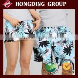 Cool printed micro peach skin fabric for beach shorts