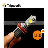Super Bright 12V-24V 25W 1800LM H4 H7 H8 H9 H10 H11 H16 9005 9006 Sockets 5000K COB Car LED Bulb Headlight