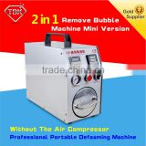 2 in 1 mini iphones lcd screen repair bubble removing machine with air compressor function