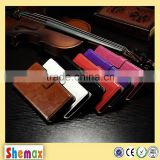 Crazy horse leather grain oil side frame cover for LG L Fino D295,Products made from PU Leather