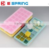 21 cavities rectangular shape silicone ice cube tray mold with lid cover for bar wine beer making baking supplies tools