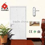 Hot sale main design wood pvc coated flush pure color eco-friendly internal door with locks