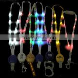 led necklace luminous id card holder neck lanyard light up guide lanyard toys party event supplies glow lanyard toy