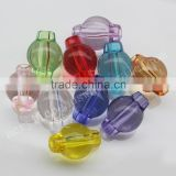 FashionTransparent Drum Acrylic Charming Beads For Bracelet& Necklace Making
