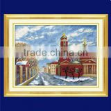 beautiful Russian winter chinese embroidery kits wholesale cross stitch supply for home decoration