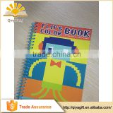 children drawing paper book kids coloring spiral notebook
