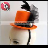 orange red black Mini Top Hat Womens Costume Accessory Gothic Halloween Fancy Dress