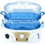 plastic electric food steamer/steam cooker with keep warm