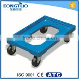 4 wheel dolly, plastic moving dolly for plastic crate