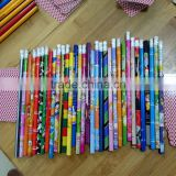 Manufacturers customize all kinds of pencil HB wood pencil with eraser