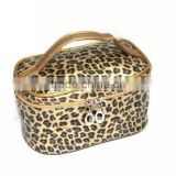 Fashion professional makeup trolley case ,satin beauty cosmetic bag
