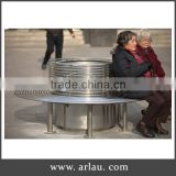 Outdoor Park metal stainless steel chair planter