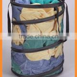 2015 new mesh cloth pop up laundry hamper