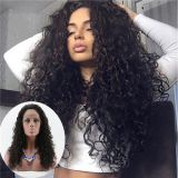 loose curly wave virgin human hair lace wig for women