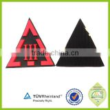 Funny newest eco-friendly top quality fire resistant pvc rubber labels