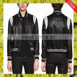 Wholesale fashion OEM service cool style high quality garment manufacturer pu men leather jacket men leather motorcycle jacket