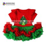 New Baby Girl Tutu Skirt children's short sleeve embroidery christmas Dance Party clothing Ruffles skirt