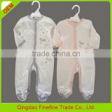In-stock baby girl one piece rompers cotton knitted snap front footies China
