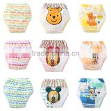 3 layers cute cartoon style children training pants printed pure cotton baby cloth diaper