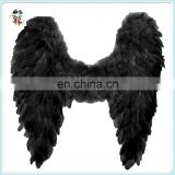 Adult Party Costume Black Large Feather Angel Wings HPC-0862