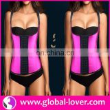 Latex Corset Wholesale Plus Size Waist Trainning Steel Boned Corset