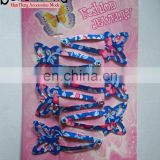 Color Printing Hair Clips Butterfly Shape Wholesale hair clip accessories