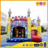 Colorful cheap inflatable combo castle bounce playground for kids on sale