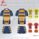 Healong Sublimation Blank Wholesale Sportswear Rugby Shirt, Cheap Custom All Blanks Rugby Jersey