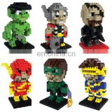 DIY Brain Girl's Games Children's super hero building blocks kids toys plastic figure block