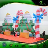 Inflatable Outdoor Christmas Decoration , Giant Inflatable Christmas Tree , Attractive Inflatable Xmas Walking Stick