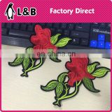 cheap China embroidery blank patches embroidery gule applique butterfly patches iron-on
