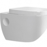 Modern washdown P trap white color ceramic round wall hung toilet bowl