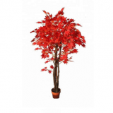 artificial plant bonsai red maple tree for decoration