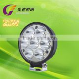 China factory wholesale super bright high power LED 21W led driving light for truck trailer
