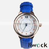 New Fashion Leather Lady Japan movt quartz Watch