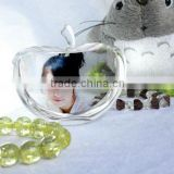 Fashion crystal glass paperweight painted glass apple glass apple paperweight