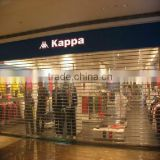 High quality electric polycarbonate transparent roller shutter/plastic roller shutter door