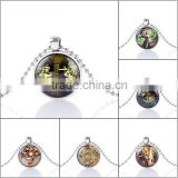 Hotselling new style ancient steampunk pendants time machine charms necklace paypal accept