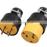 Professional Practical UL Listed US industrial plug & socket/2 pin american plug/US 2 pin ac power socket